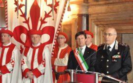 Il generale Giovanni Nistri co n il sindaco di Firenze Dario Nardella