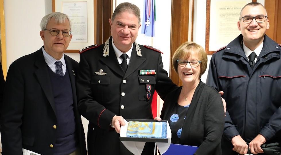 Da sin Joseph Petrosino, generale Gianfranco Cavallo, Margaret Petrosino, colonnello Daniel Melis