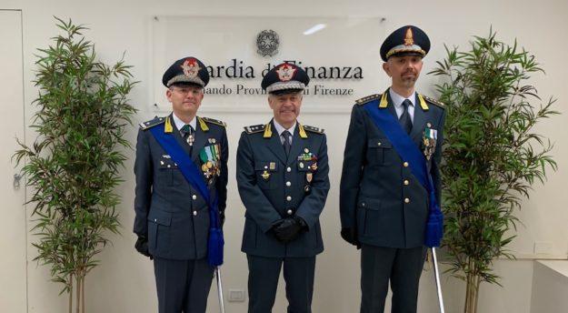da sin i generali Benedetto Lipari e Bruno Bartoloni. A destra il colonnello Carlo Levanti