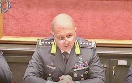 Il generale Giuseppe Zafarana durante un'audizione alla Camera dei Deputati