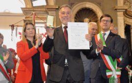 Un momento della premiazione dei Maestri del Lavoro 2019 a Firenze