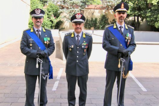 da sinistra i generali Fabrizio Nieddu, Bruno Bartoloni e il colonnello Carlo Levanti