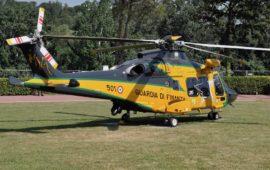 L'elicottero AW 169 con la nuova livrea della Guardia di Finanza
