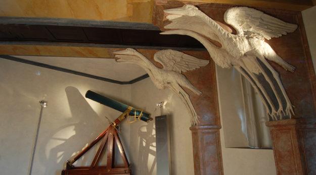 La sala delle cicogne alla Specola di Firenze