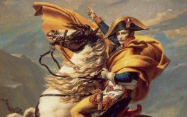 Particolare del ritratto di Napoleone del pittore Jacques-Louis David