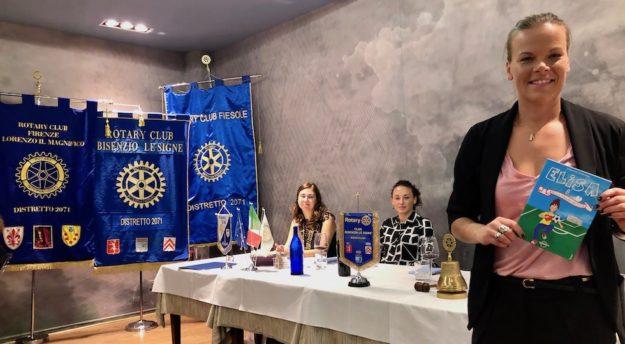 Stéphanie Öhrström al Rotary con Ilaria Mauro