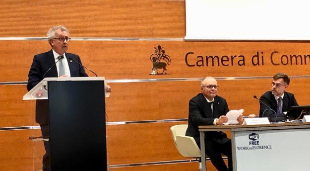 da sin. Il ministro Pierre Gramegna, il console Stefano Cacciaguerra, il ministro Franz Fayot