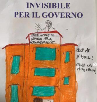 Un disegno degli alunni dell'Istituto Serve di Maria di Firenze