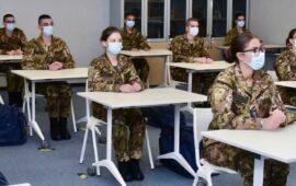 Giovanissimi allievi della Scuola Militare Aeronautica Douhet al debutto dell'anno 2020-21