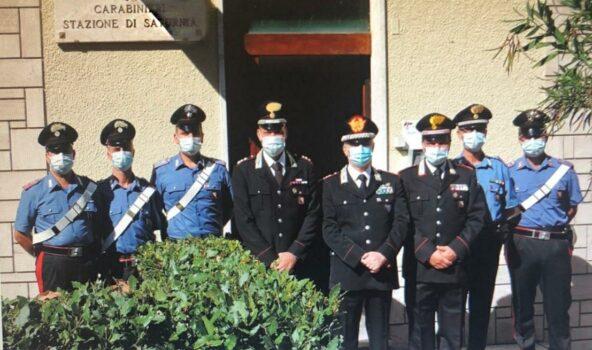 L'incontro del generale Ciceri con il personale della Stazione Carabinieri di Saturnia