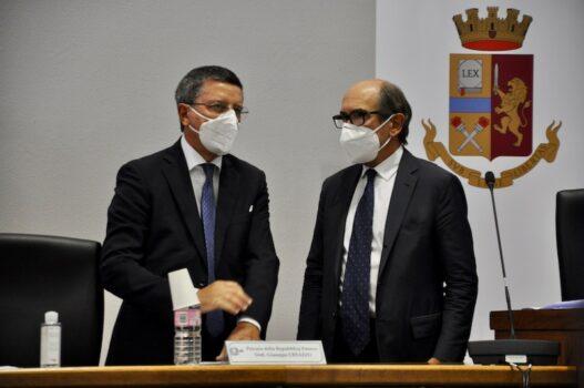Il Procuratore di Firenze Giuseppe Creazzo (a sin) con il Procuratore Nazionale Antimafia Federico Cafiero de Raho