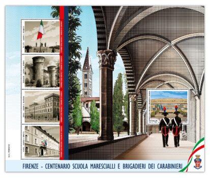 Il francobollo per il centenario della Scuola Marescialli