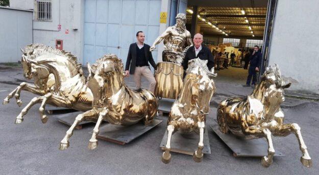 Da sin. Federico e Renzo Marinelli, titolari della Galleria Frilli