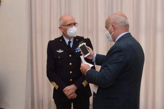 Il generale Rosso durante l'Intervista