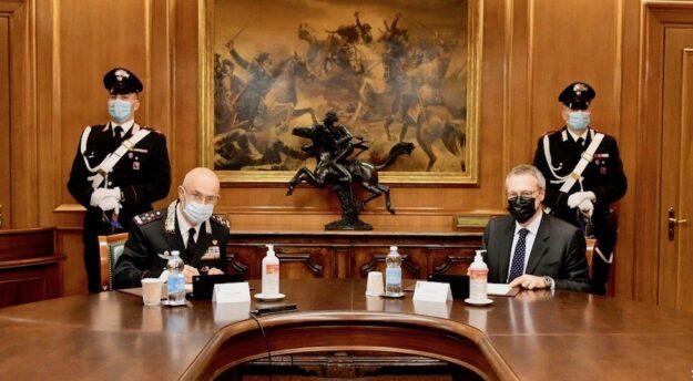 da sin il generale Giovanni Nistri e il presidente di Confindustria Carlo Bonomi