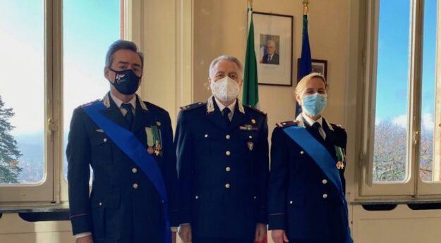 da sin. colonnello Folliero e i generali Palmieri e Marinelli al cambio di vertice dei Carabinieri Forestali della Toscana