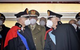 Passaggio di comando al vertice dei Carabinieri tra i generali Giovanni Nistri (a sin.) e il generale Teo Luzi