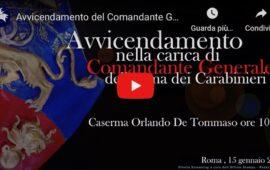 Qui la diretta streaming a cura del Comando Generale dei Carabinieri