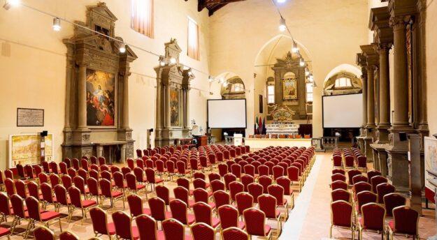L'auditorium del Centro Convegni Sant'Agostino a Cortona