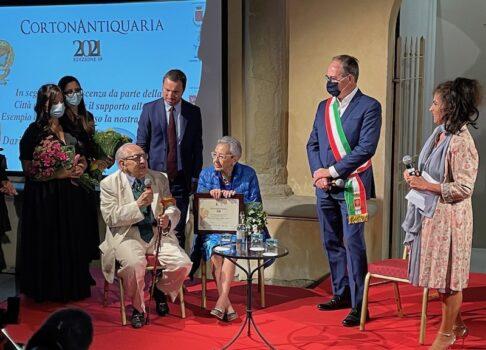 I coniugi Daria Ubaldi e Antonio Ingrosso