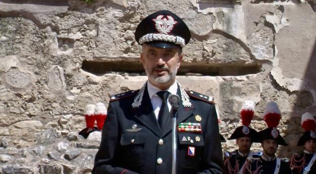 Il generale Maurizio Stefanizzi nuovo comandante della Scuola Marescialli dei Carabinieri (Foto da video IrpiniaNews)