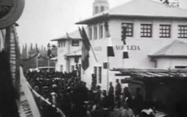 La partenza da Aquileia del treno del Milite ignoto nel 1921